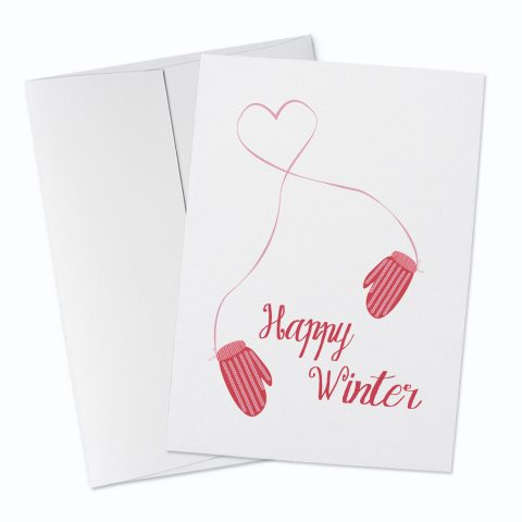 Happy WInter Greeting Card