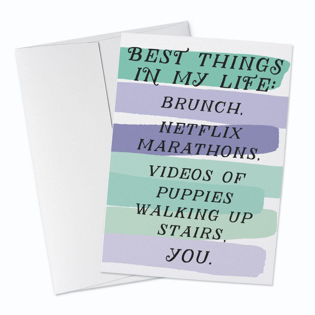 Best Things Greeting Card