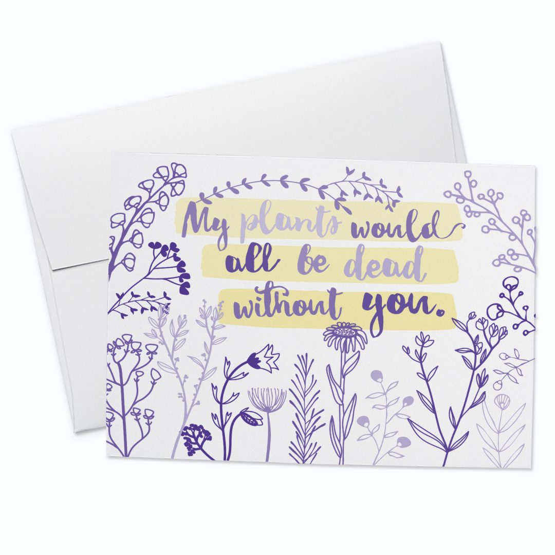 Dead Plants Greeting Card