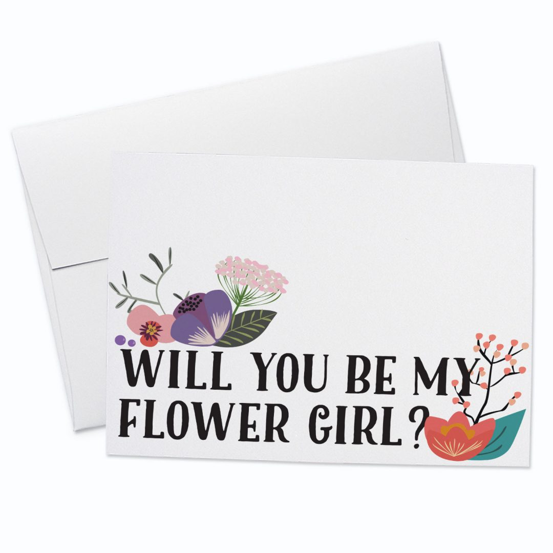Flower Girl Greeting Card