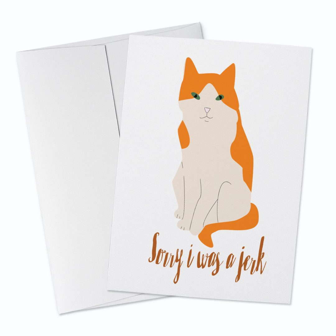 Sorry Jerk Greeting Card
