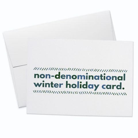 Non Denominational Greeting Card