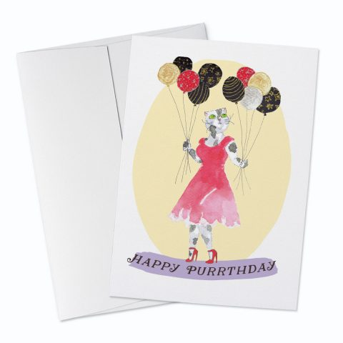 Happy Purrthday Greeting Card