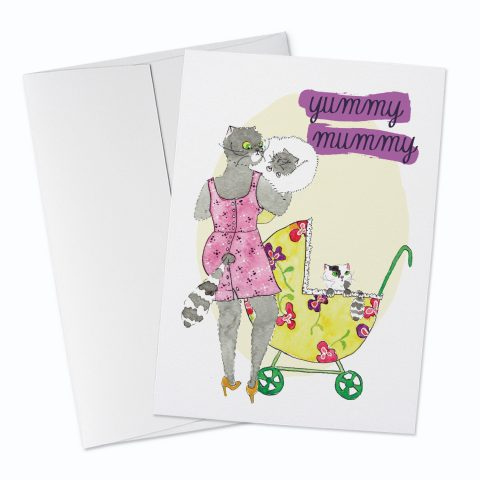 Yummy Mummy Greeting Card