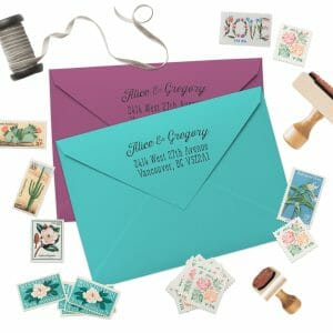 Custom Address Stamps by Fox and Fancy